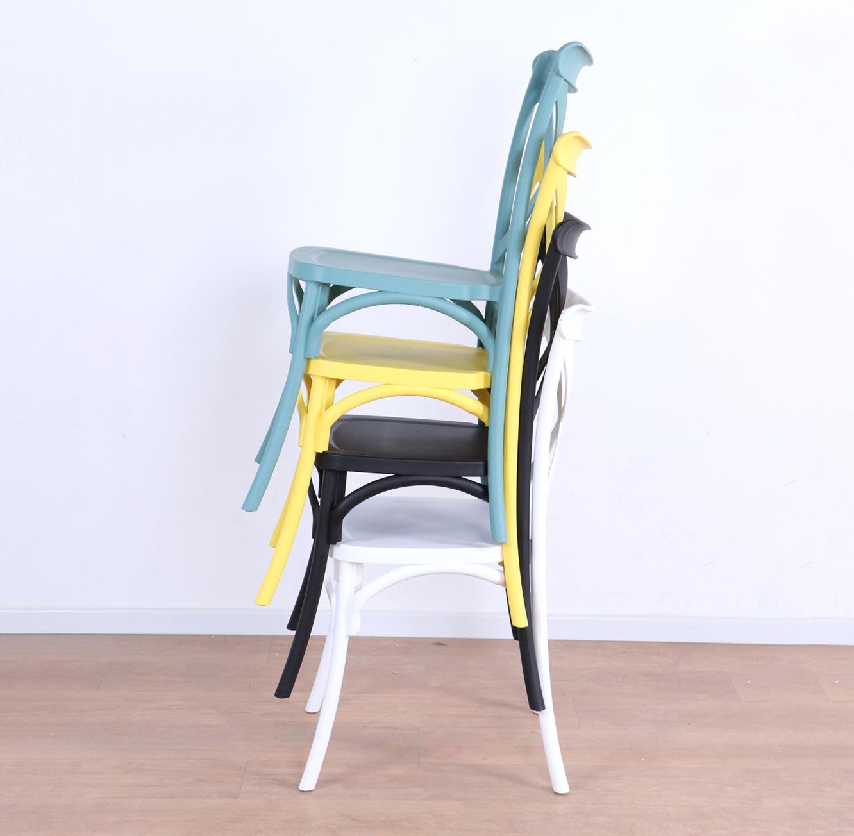 כסא לפינת האוכל בעיצוב מודרני עשוי פלסטיק במגוון צבעים לבחירה  - תמונה 7