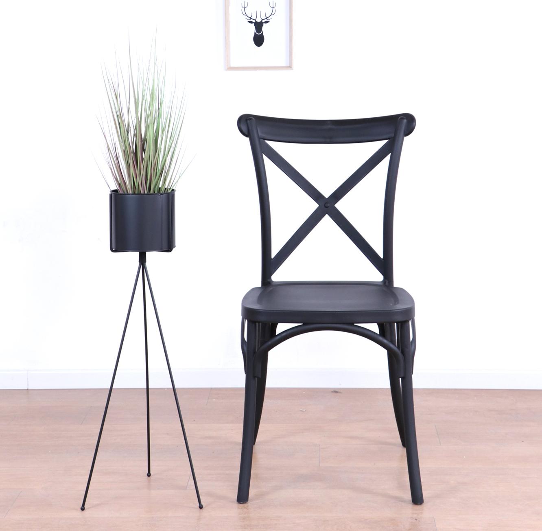 כסא לפינת האוכל בעיצוב מודרני עשוי פלסטיק במגוון צבעים לבחירה  - תמונה 2