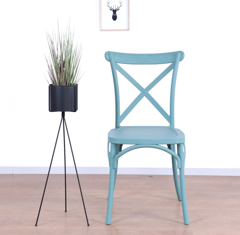כסא לפינת האוכל בעיצוב מודרני עשוי פלסטיק במגוון צבעים לבחירה  - תמונה 4