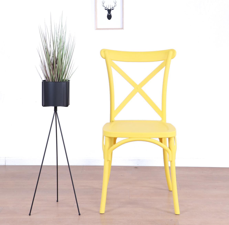 כסא לפינת האוכל בעיצוב מודרני עשוי פלסטיק במגוון צבעים לבחירה  - תמונה 3