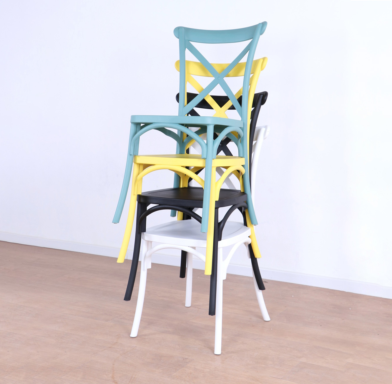 כסא לפינת האוכל בעיצוב מודרני עשוי פלסטיק במגוון צבעים לבחירה  - תמונה 6