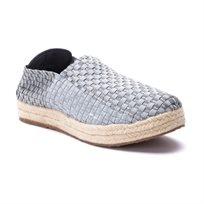 Rock Spring- Epoca - נעלי פלטפורמה בצבע אפור בדוגמה קלועה