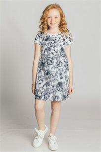 שמלת טריקו לילדות - צבע לבחירה