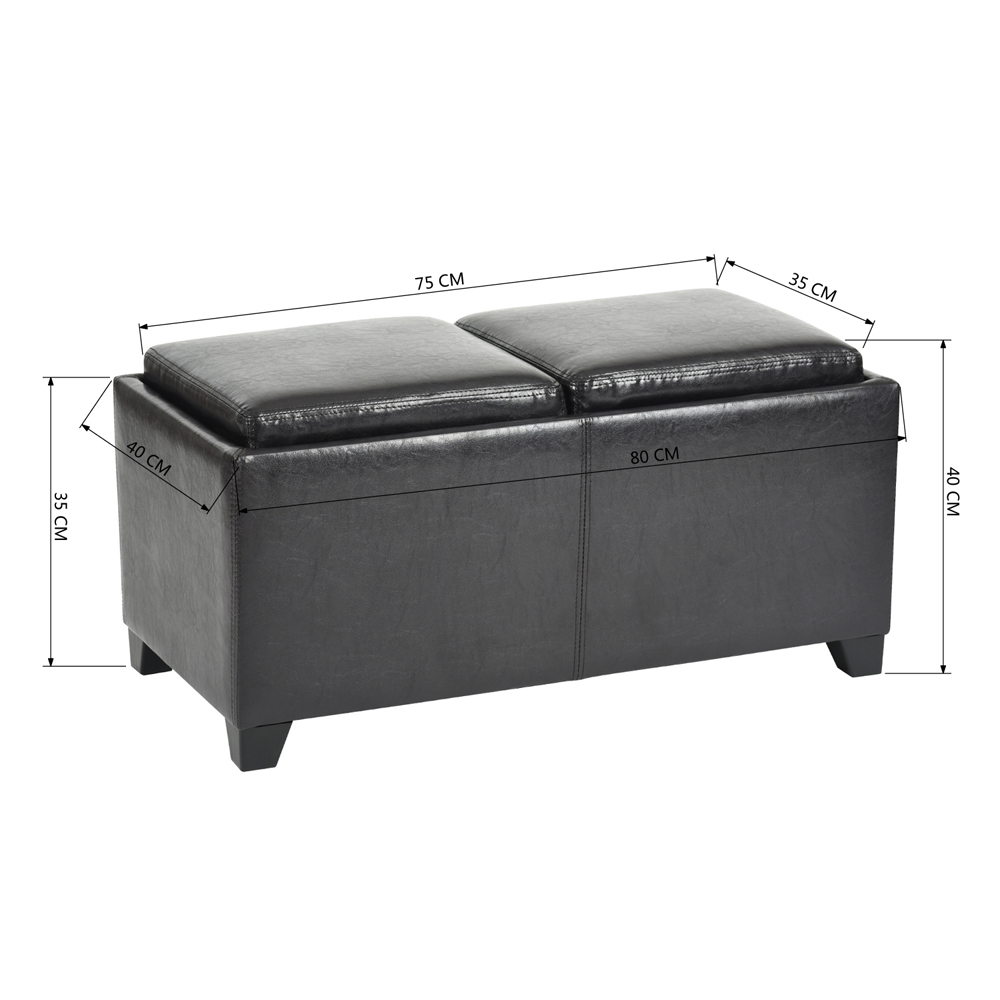 הדום ענק דגם ברוש ההופך ממושב לשולחן הגשה לסלון, חדר אירוח או חדר שינה - תמונה 5