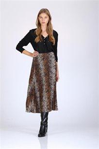 חצאית מנומרת פליסה - CUBiCA