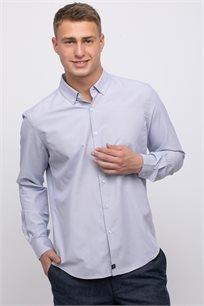 חולצה מכופתרת טקסטורה במראה אלגנטי