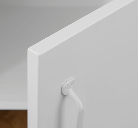 מזנון לטלוויזיה בעיצוב מודרני עם ידיות מתכת דגם FACTORY - משלוח חינם - תמונה 4