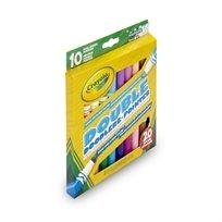 ערכה 10 טושים דו צדדים Crayola