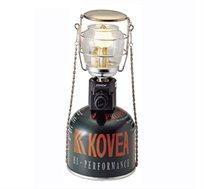 מנורת גז קומפקטית לתאורה בשטח עם הדלקה אלקטרונית וכלוב מתכת