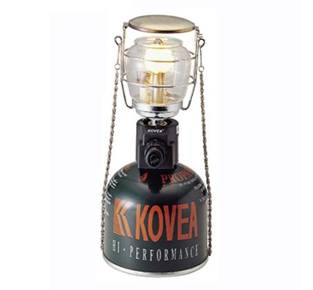 מנורת גז קומפקטית לתאורה בשטח