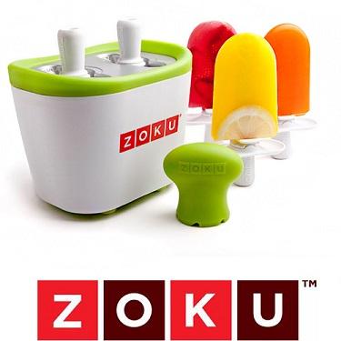 מכונת ZOKU זוגית להכנת ארטיקים ושלגונים תוך 8 דקות