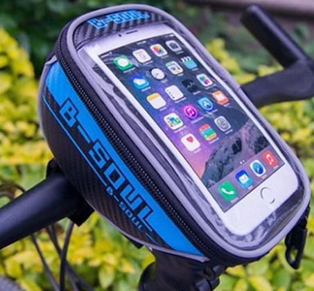 תיק כידון לאופניים, אטום למים, תומך בסמארטפונים עד גודל 5.5