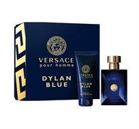 """סט לגבר ורסאצ'ה Dylan Blue בושם א.ד.ט 100 מ""""ל + שאוור ג'ל 100 מ""""ל Versace"""