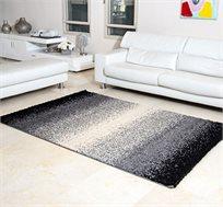 שטיח שאגי מעוצב אפור כהה עשוי 100% סיבי פוליפרופילן