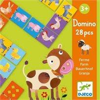 משחק דומינו קטן - חיות - Djeco