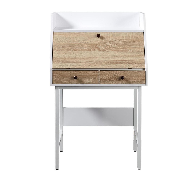 שולחן עבודה דגם London עשוי עץ בשילוב מתכת - משלוח חינם