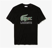 חולצת טי שרט בהדפס הלוגו לגברים Lacoste בצבע שחור/ירוק