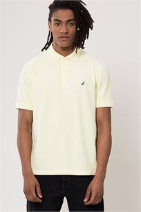 חולצת פולו לגברים - צהוב בהיר