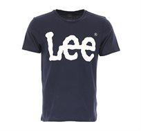 טי שרט בייסיק Lee לגברים בצבע כחול כהה