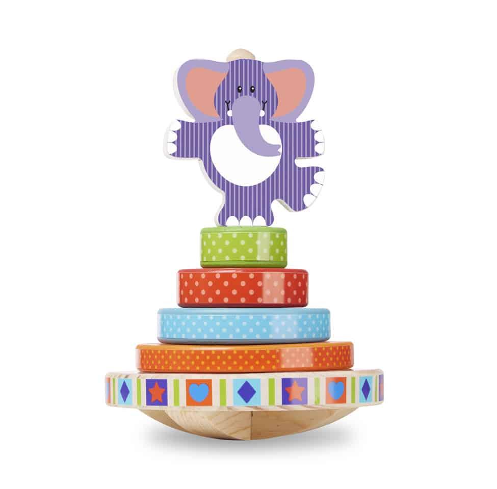 משחק השחלה נדנדה, צעצוע עץ לתינוק מבית מליסה ודאג