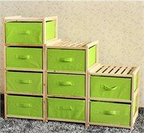 שידת אחסון לחדר הילדים עם תאי אחסון מבד HomeTown
