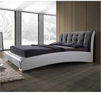 מיטה זוגית מרופדת בשילוב 2 צבעים ובעיצוב יוקרתי דגם שריל HOME DECOR