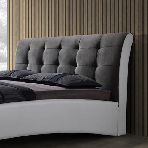 מיטה זוגית מרופדת בשילוב 2 צבעים ובעיצוב יוקרתי דגם שריל HOME DECOR   - תמונה 2