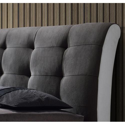 מיטה זוגית מרופדת בשילוב 2 צבעים ובעיצוב יוקרתי דגם שריל HOME DECOR   - תמונה 4