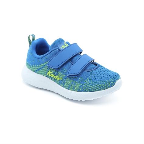 Keds - נעלי סניקרס בצבע כחול במראה סרוג עם סקוטשים