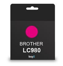 ראש דיו תואם BROTHER LC980 אדום
