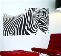 מדבקת קיר - זברה, מתאימה לקישוט קירות הבית, נדבקת בקלות ונראית כציור קיר