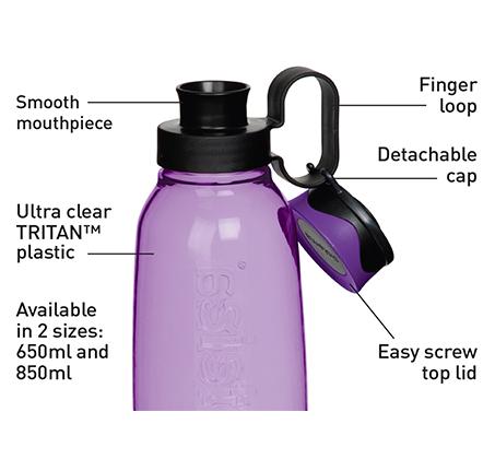 בקבוק שתייה טריטן בקבוק עם פקק וידית נשיאה 650 מ