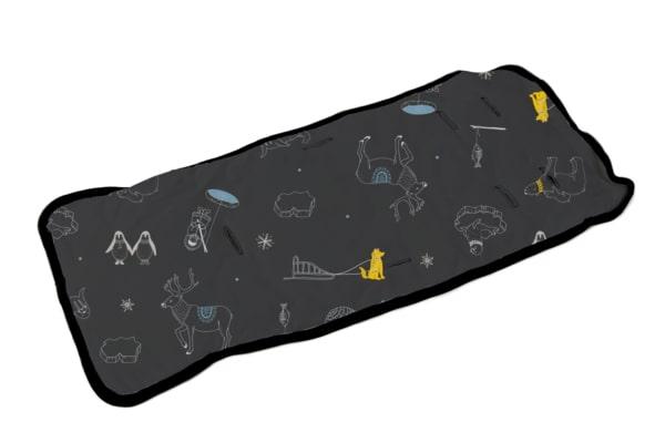ריפודית לעגלת תינוק בצבע שחור משופשף עם הדפס מתחת לאפס - Ndoto