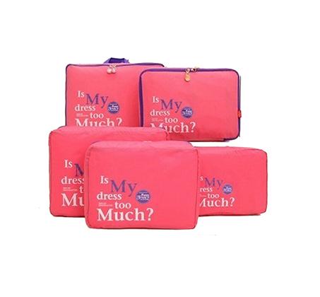 סט 5 חלקים לארגון המטען במזוודה כולל 5 חלקים נפרדים, בגדלים שונים - תמונה 2