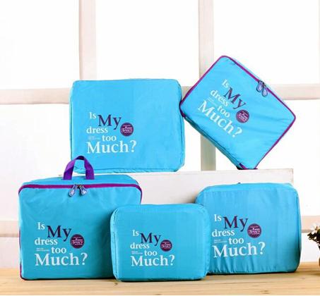 סט 5 חלקים לארגון המטען במזוודה כולל 5 חלקים נפרדים, בגדלים שונים - תמונה 4