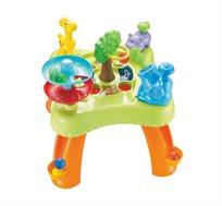 שולחן פעילות עם כדורים צבעוניים - משחק לתינוקות
