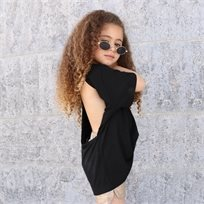 חולצת Oro לילדות (מידות 2-8 שנים) שחור גב פתוח