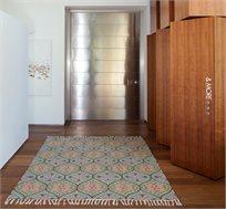 שטיח צמר בעבודת יד בעיצוב טיפות במגוון גדלים לבחירה
