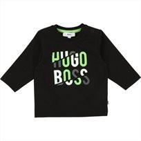 BOSS חולצה(9 חודשים-3 שנים) - שחור לוגו