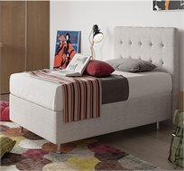 מיטה מרופדת Aeroflex עם אחסון למצעים ומזרן VISCO