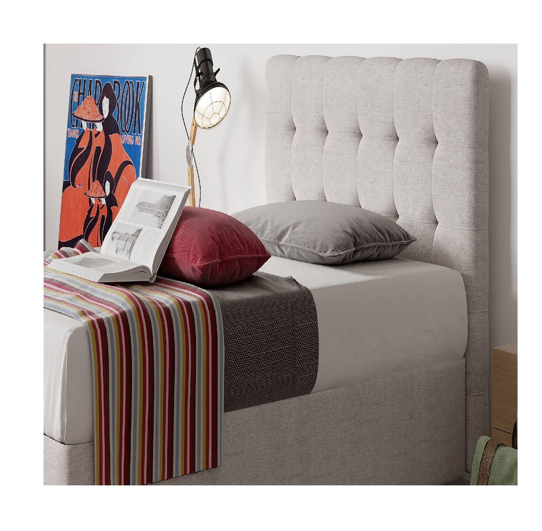 מיטת נוער מרופדת עם ארגז מצעים דגם Roma בשילוב ראש מיטה מעוצב Aeroflex  - תמונה 2