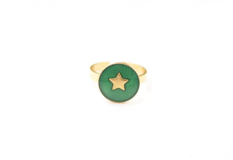טבעת Star ירוק