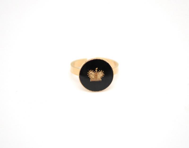 טבעת Queen שחור