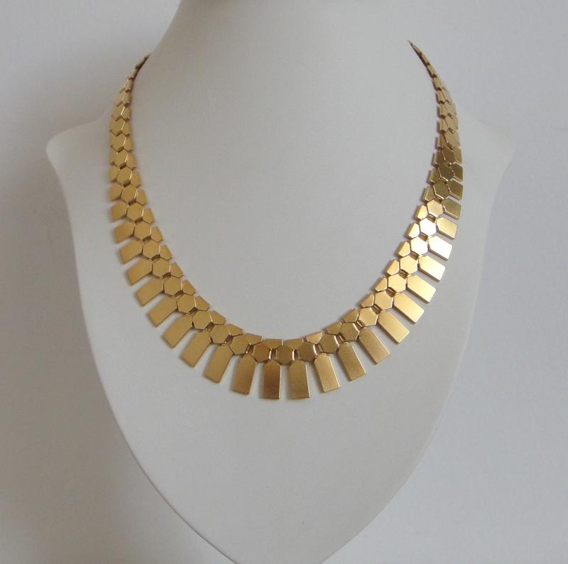 שרשרת קליאופטרה - זהב מאט