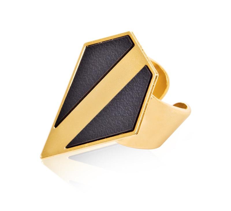 טבעת פסקל זהב - שחור