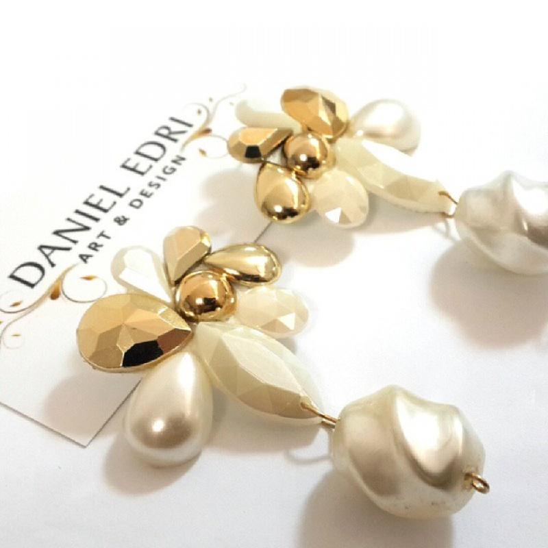עגיל המערבולת- פנינה זהב