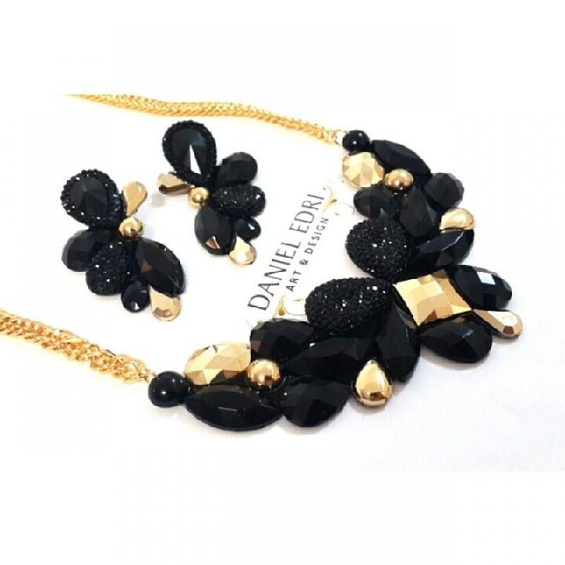 שרשרת מרי - שחור זהב