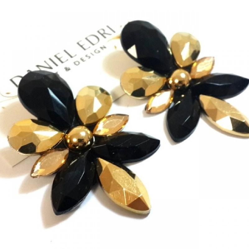 עגיל עדי- שחור זהב