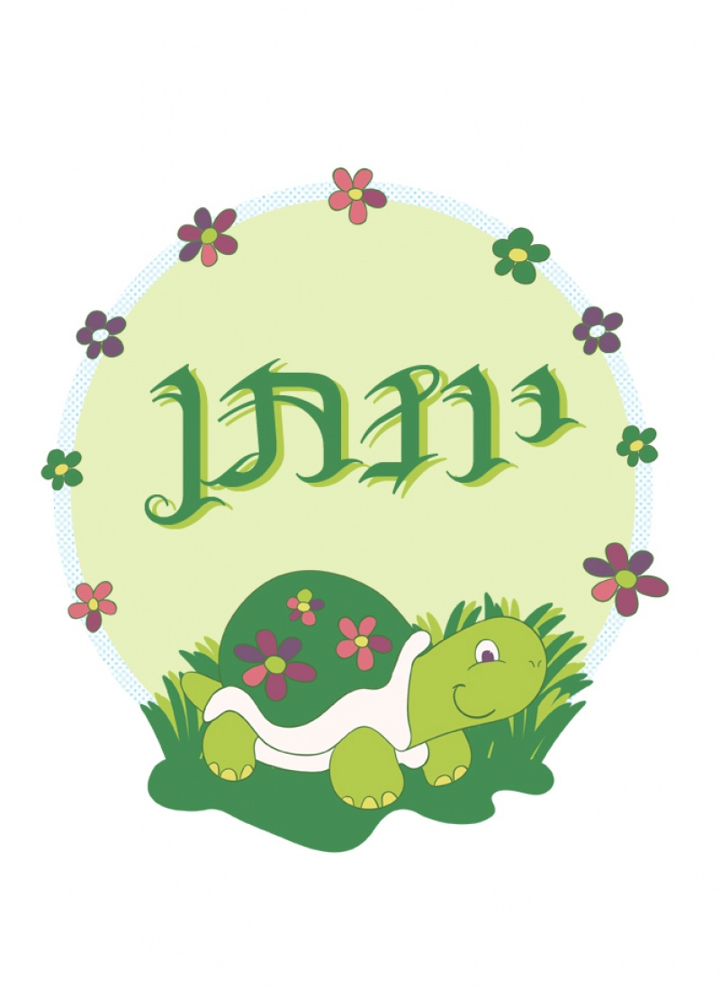 צעיף מתוק - דגם צב הפרחים ירקרק