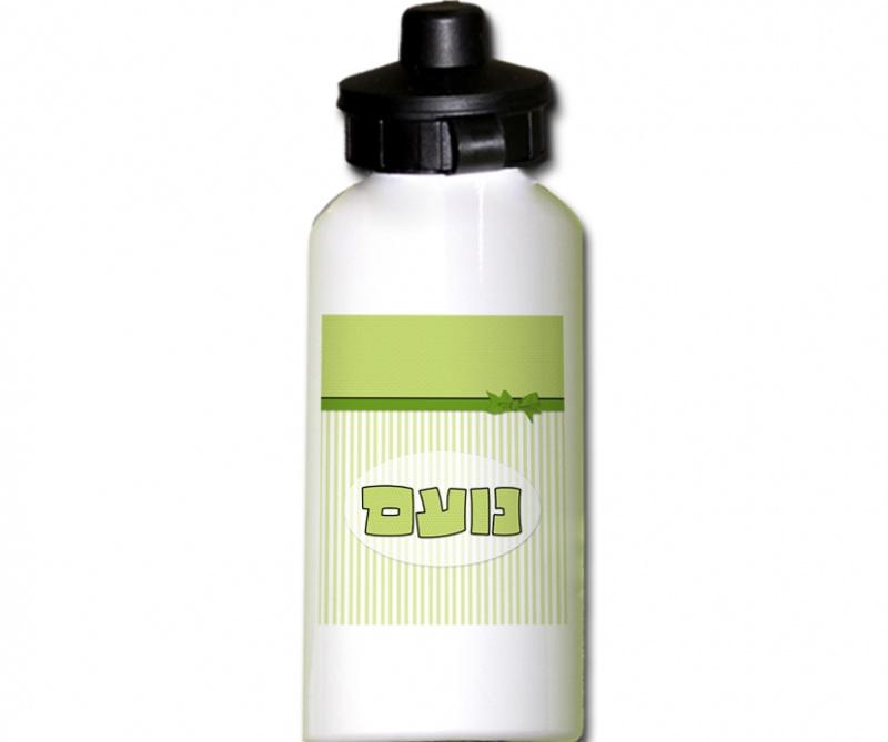 בקבוק אישי בדגם פפיון ירוק